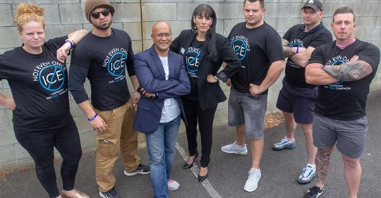 The Community Ice Action Team, made up of Jose and five other reformed addicts, has been launched on the Coffs Coast. CEO of the Australian Anti-Ice Campaign Andre'a Simmons visited Coffs Harbour for the launch. Photo: Kyle Hands Media